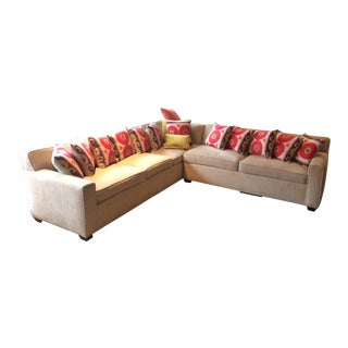 Tailored Sectional Sofa & Pillows