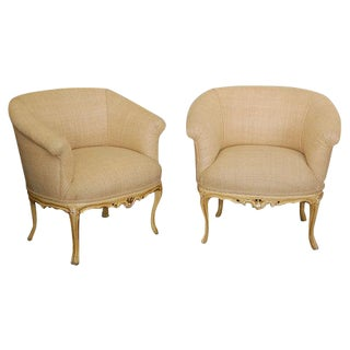 Louis XV Style Upholstered Chairs - A Pair