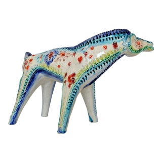 Rare Vintage Italian Ceramic Horse Figurine by Alvino Bagni for Bitossi Raymor Mid Century Modern Sculpture MCM Millennial Pottery