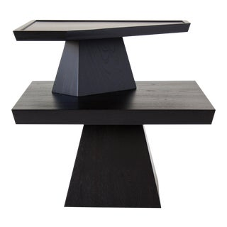 Brutalist Two-Tiered End Table