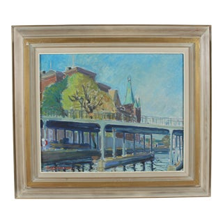 Oil Painting 'Bridge in Stockholm'