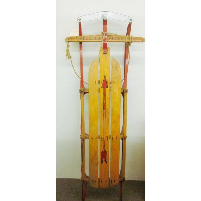 Vintage Decorative Old Wooden Sled - Image 2 of 6