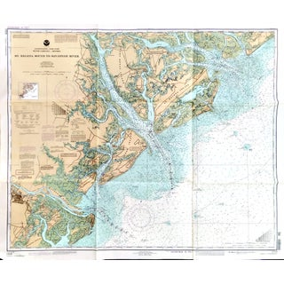 Vintage St. Helena-Savannah River Nautical Chart