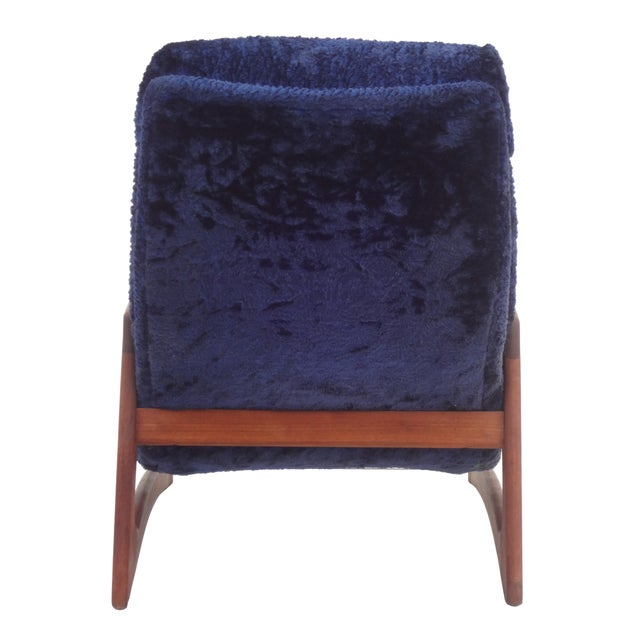 Adrian Pearsall for Craft Blue Lounge Chair - Image 5 of 10