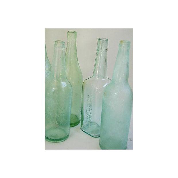 Pale Green-Blue Antique Bottles - Set of 8 - Image 7 of 8