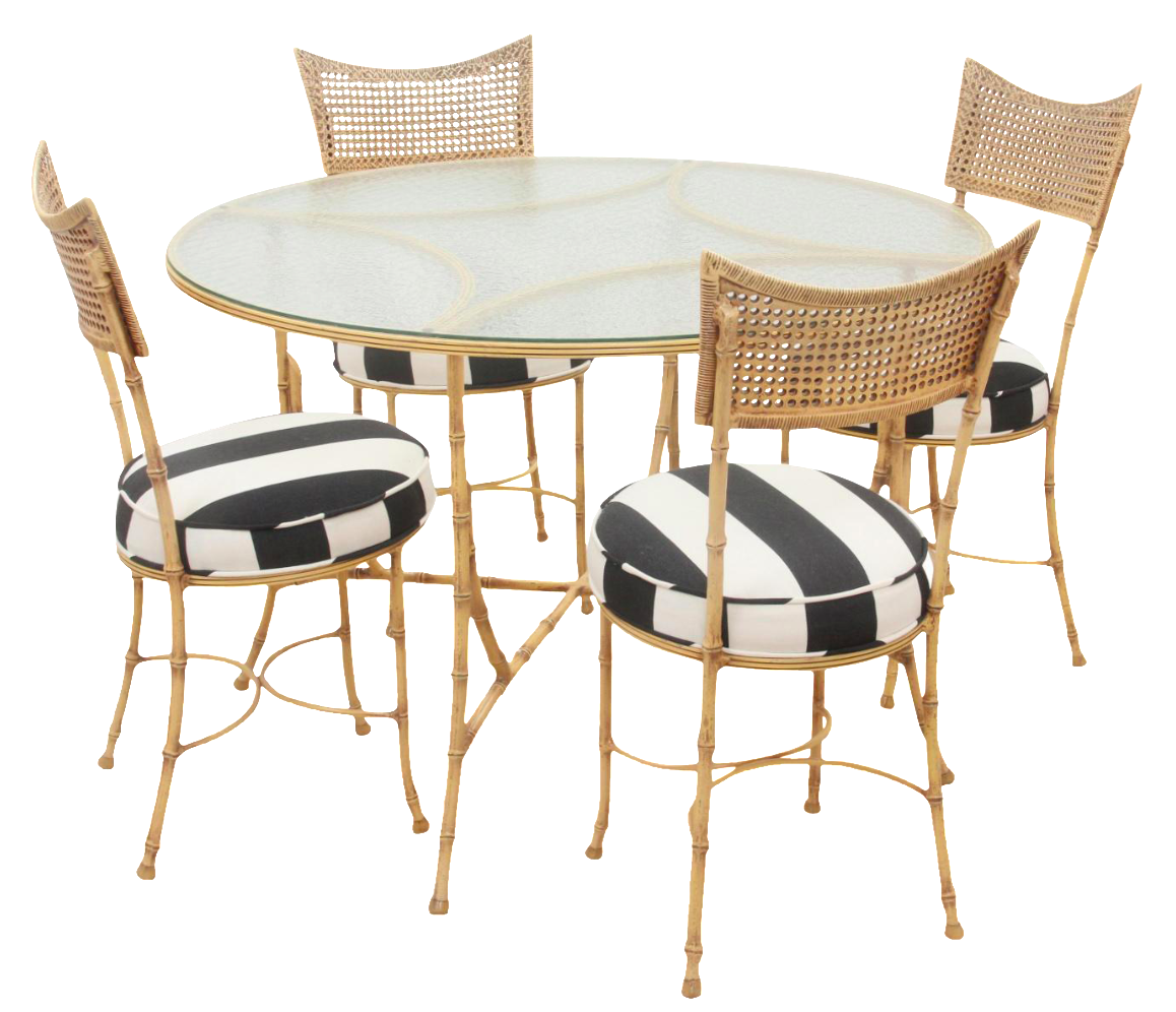 Faux Bamboo Bistro Set