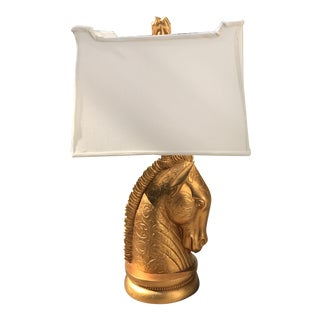 Regency Gold Horse Head Lamp