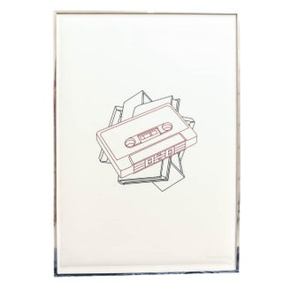 Michael Craig-Martin Tapes Screen Print