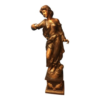 Vintage Neoclassical Bronze Statue