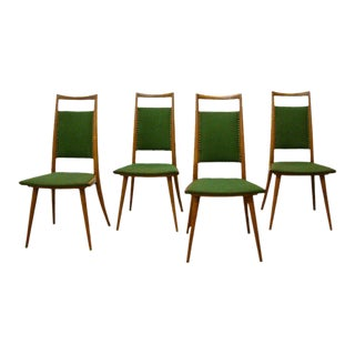 Italian Oak Side Chairs - Set of 4