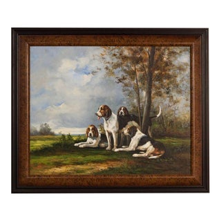 Sarreid Ltd Resting Dogs Print