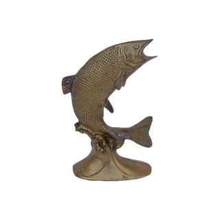 Brass Salmon Sculpture