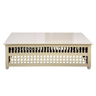 White Mousharabi Lattice Coffee Table
