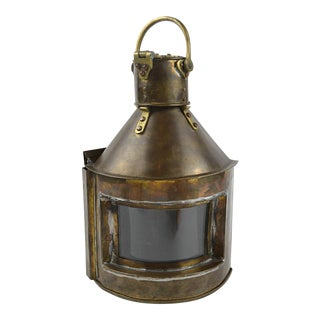 19th Century Marine Starboard Signal Lantern