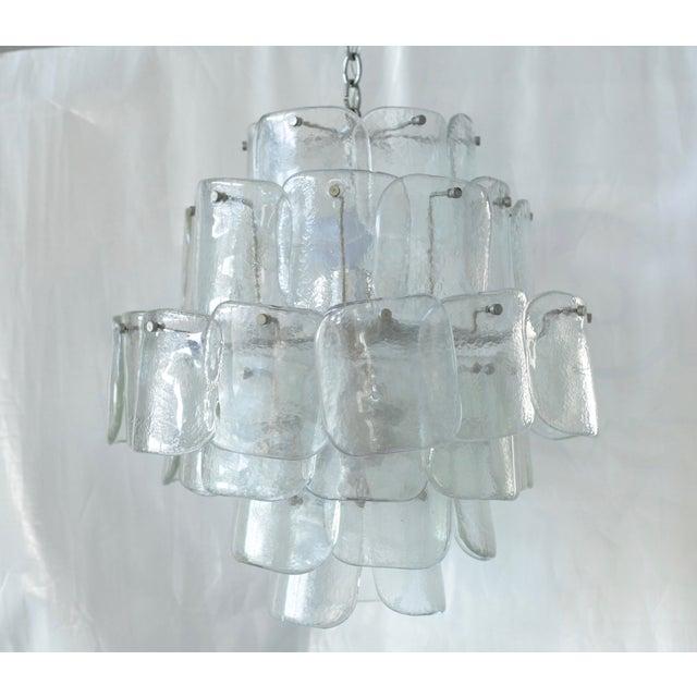Image of Mid-Century Mazzega Cast Glass Murano Chandelier