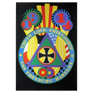 Hartley Elegies: KvF V Serigraph by Robert Indiana