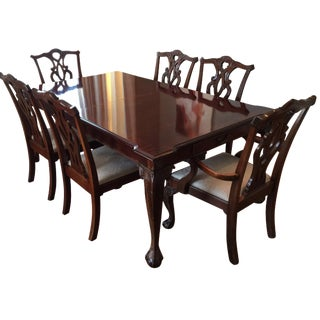 Stanley 60th Anniv Mahogany Chippendale Dining