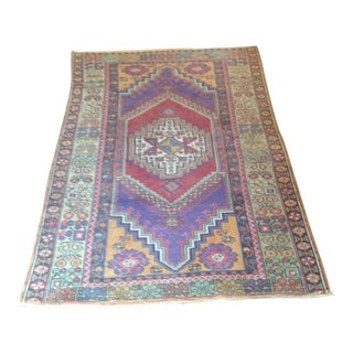 Vintage Turkish Rug - 3′9″ × 6′1″
