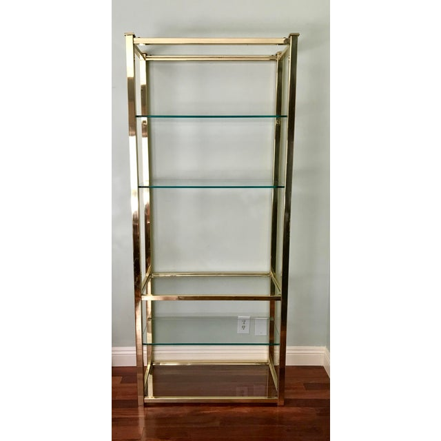 Vintage Brass & Glass Etagere - Image 5 of 5