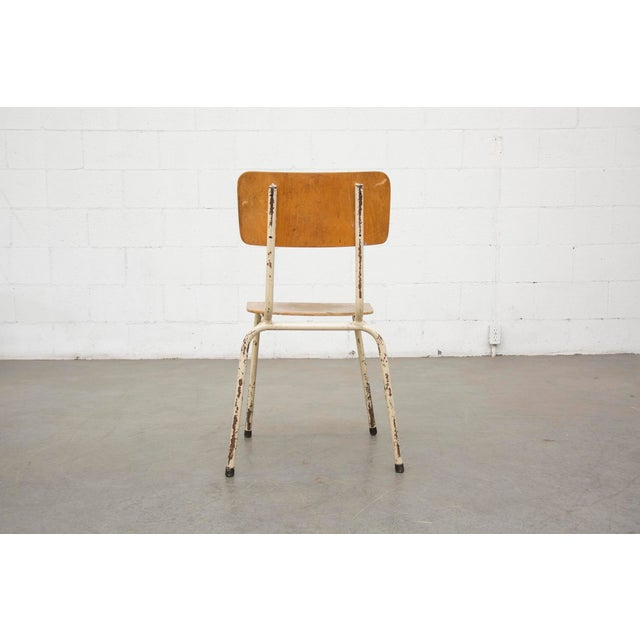 Industrial Plywood Stacking School Chairs - Image 6 of 11