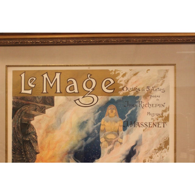 Image of 19th C. Framed French Opera Poster