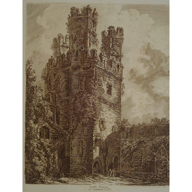 Sepia British Architectural Etching - Image 3 of 3