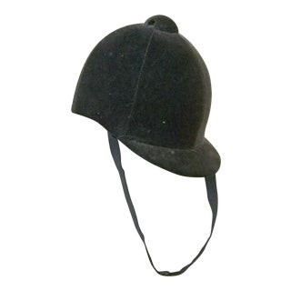 English Black Velvet Riding Cap