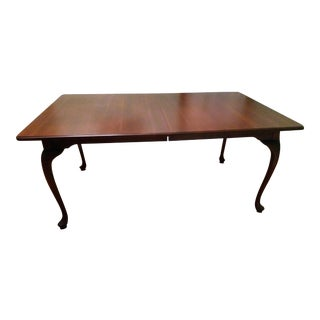 Amish Handmade Cherry Dining Table With Leaves