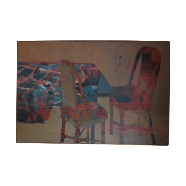 1959 Abstract Painting - Room With Chairs - Image 1 of 11