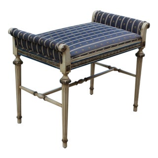 Vintage Neoclassical Style Bench