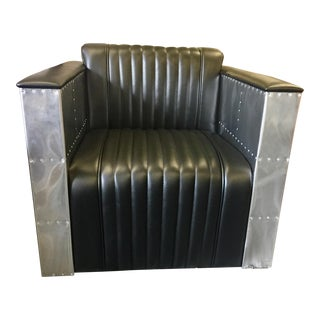 Art Deco Industrial Style Club Chair