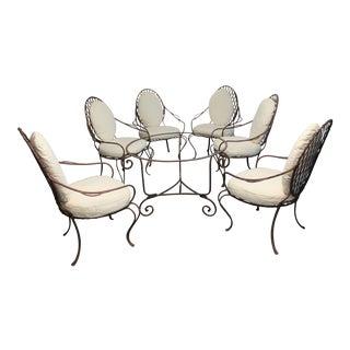Rose Tarlow Twig Iron Garden Armchairs & Table Base