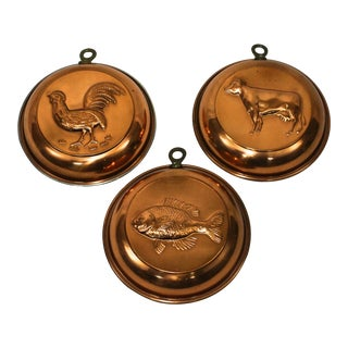 French Style Copper Molds - Set of 3