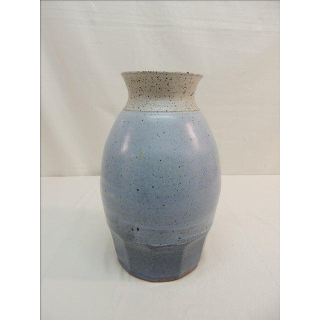 Vintage Mid Century Modern Tall Pottery Vase - Image 2 of 4