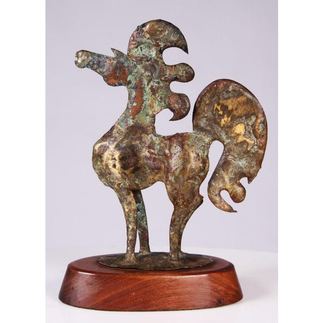 Image of Brutalist Bronze Horse Sculpture by Bill Lett