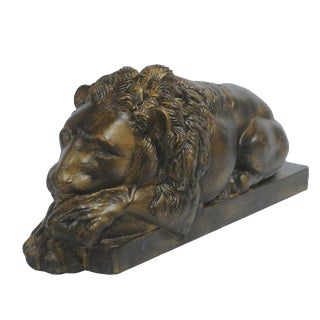 Sarreid Ltd Left Facing Cast Iron Reclining Lion