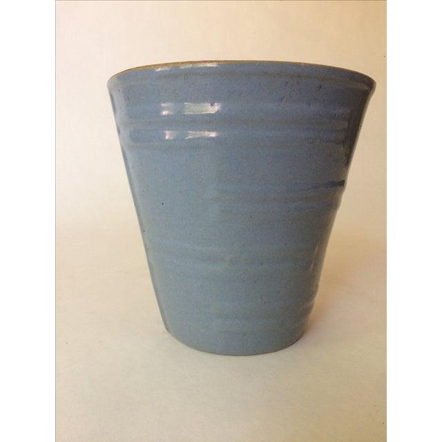 Machine Age Blue-Grey Flower Pot - Image 3 of 11