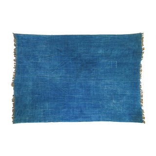 African Denim Batik Throw