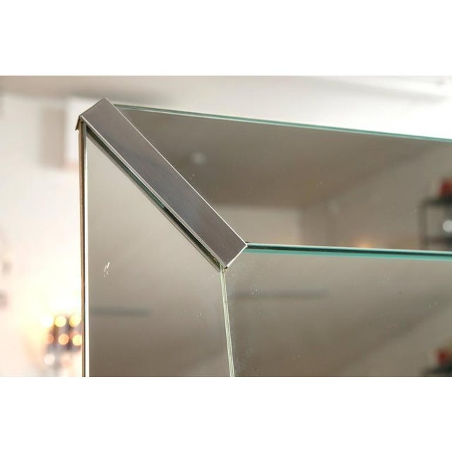 Beveled Rectangular Stepped Mirror with Chrome Accents - Image 6 of 6