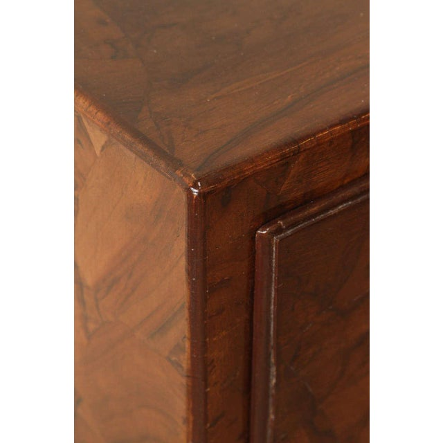 Campaign Style Stained Olive Burlwood Dresser - Image 4 of 8