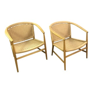 Danish Illum Wikkelso Rope Chairs - A Pair