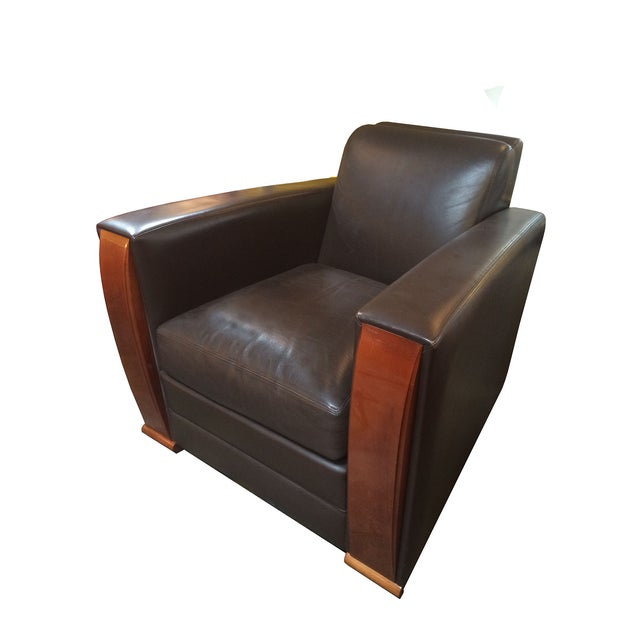 """""""Pullman"""" Club Chair by Hugues Chevalier - Image 1 of 7"""