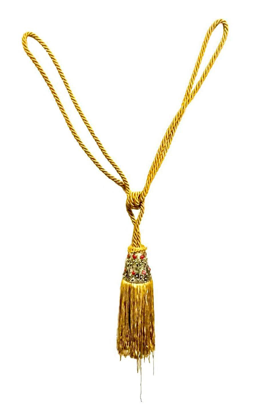 Hollywood Regency Ornate Saffron Key Tassel Chairish