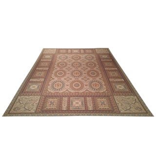 French Handmade Needlepoint Rug - 9′ × 12′