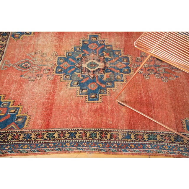 "Antique Afshar Distressed Rug- 4'5"" x 5'11"" - Image 5 of 7"