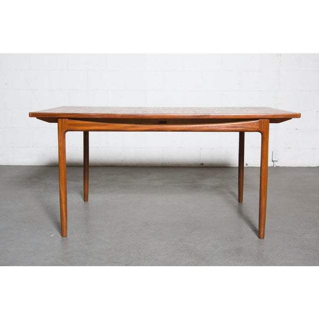 Mid-Century Carved Teak Dining Table - Image 3 of 9