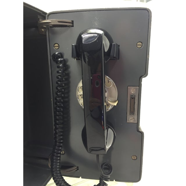 Image of AT&T Outdoor Gray & Black Rotary Dial Telephone