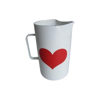 Kaj Franck Finel Danish Modern Heart Pitcher