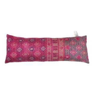 Chinese Minority Pink Silk Pillow