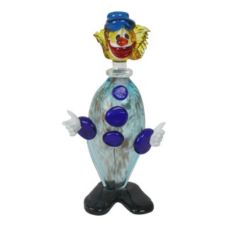 1960s Vintage Murano Glass Clown Decanter
